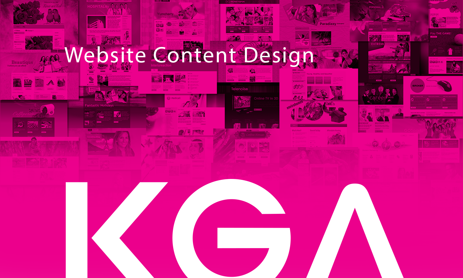 WordPress Website Content Design - KG Advertising Melbourne